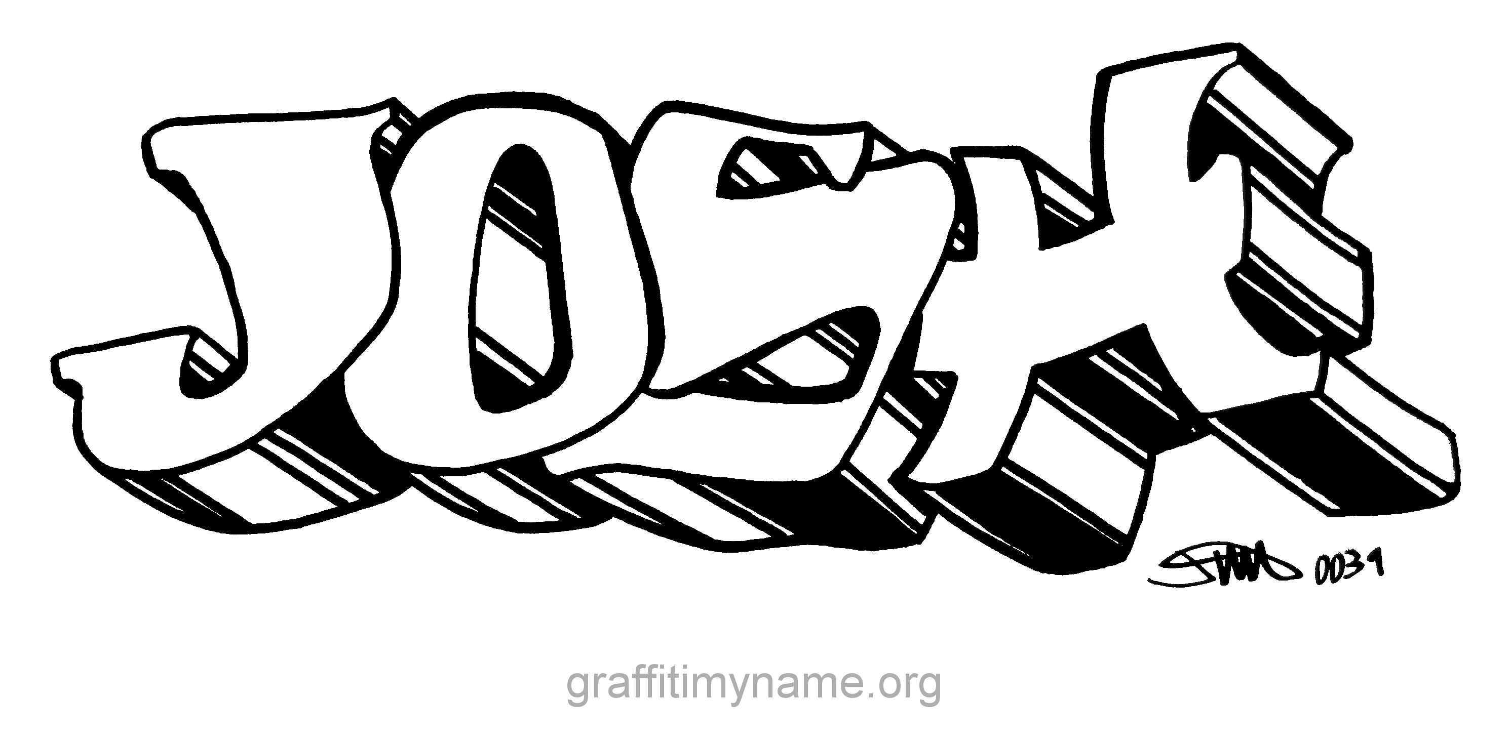 Josh graffiti my name josh in graffiti altavistaventures Image collections