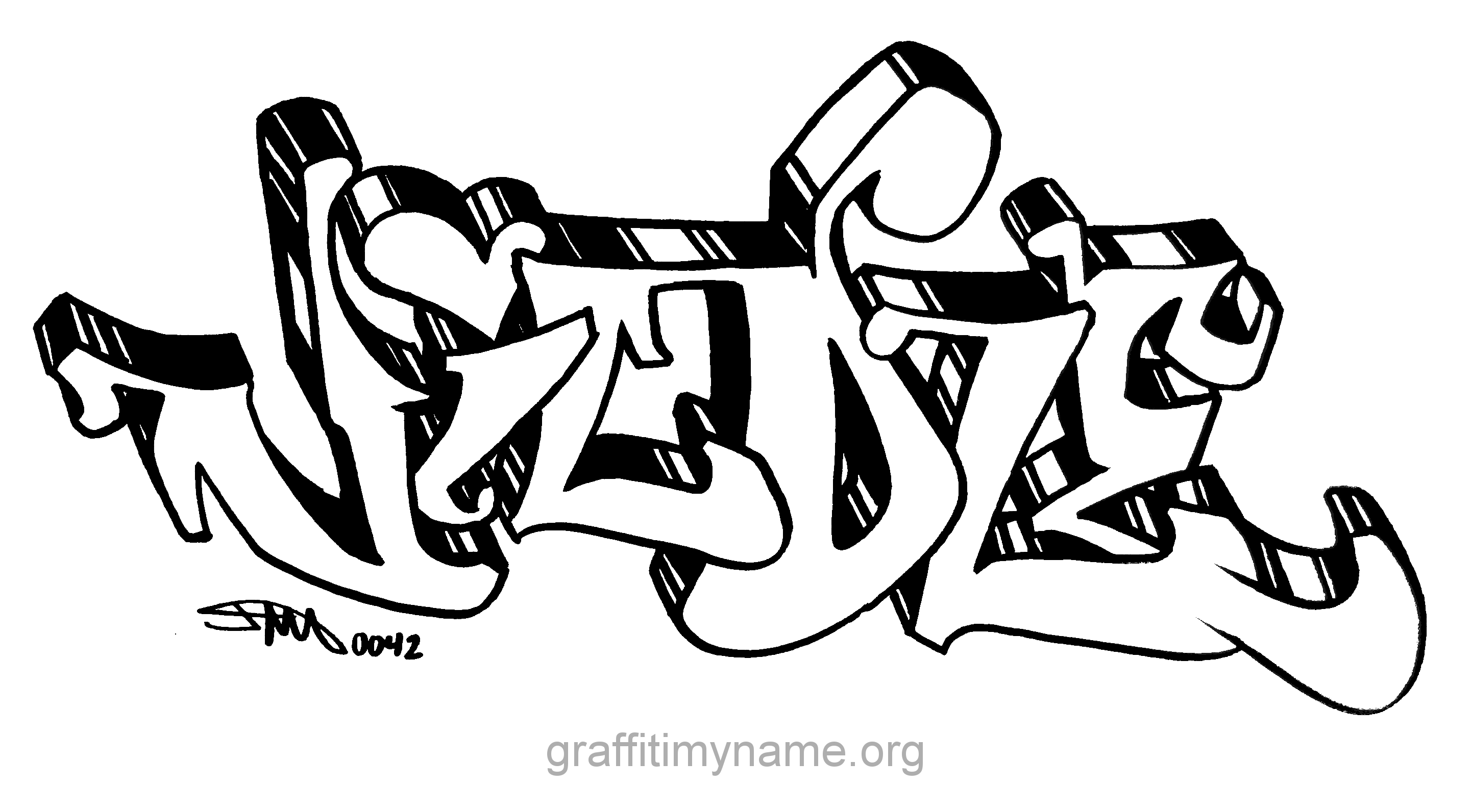 Name In Graffiti Colouring Pages Graffiti Coloring Pages Names
