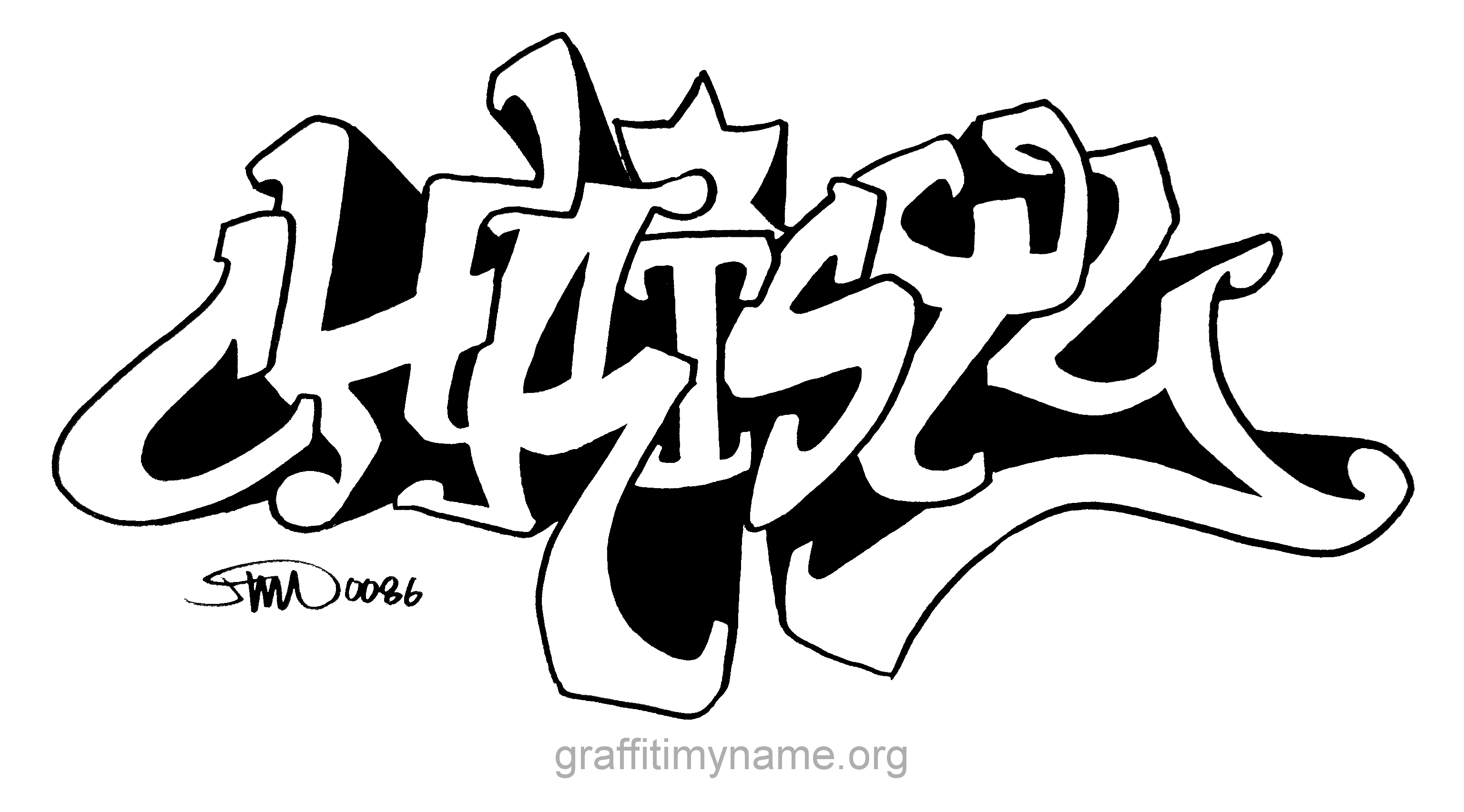 Christy In Graffiti