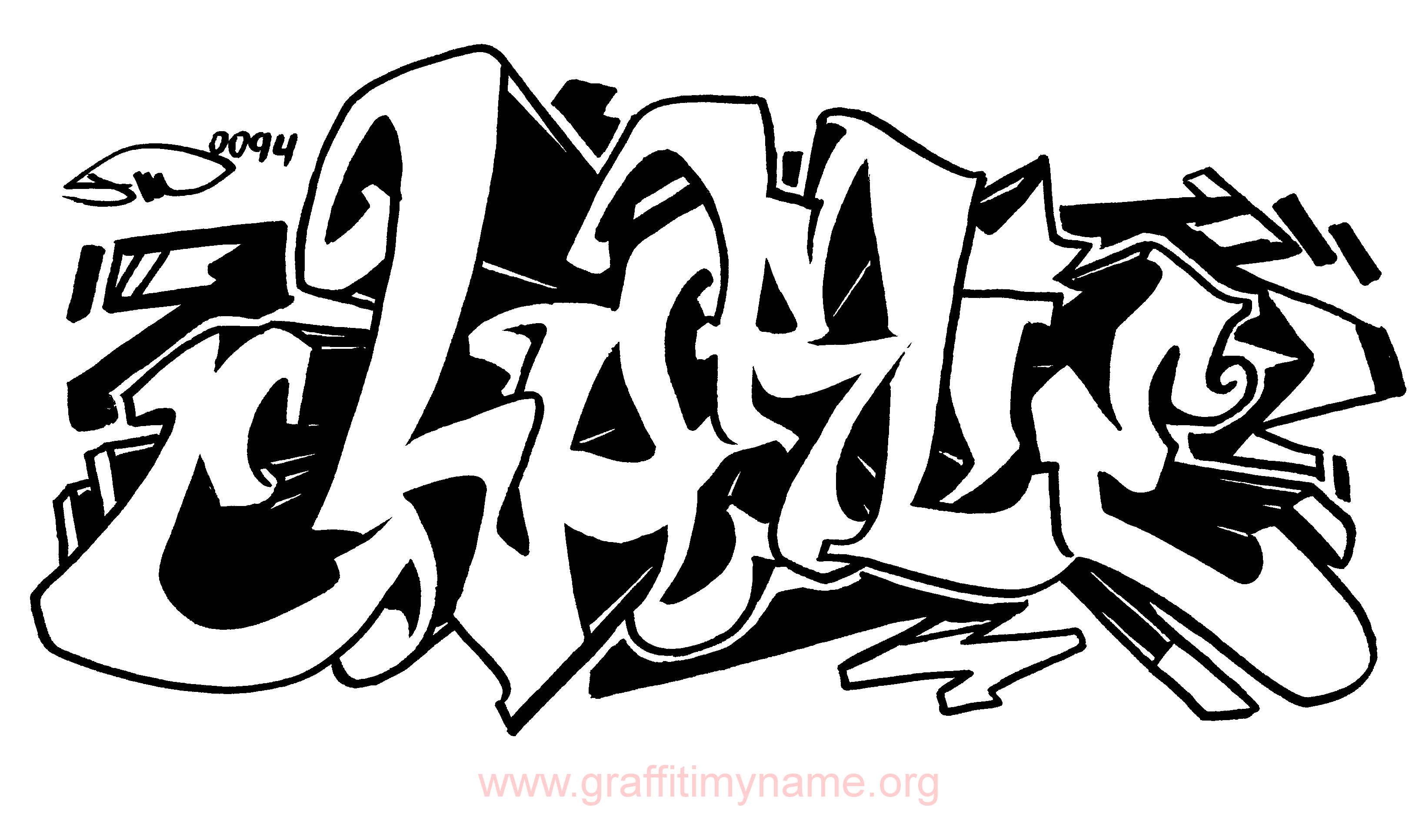 Image Result For Graffiti Words Coloring