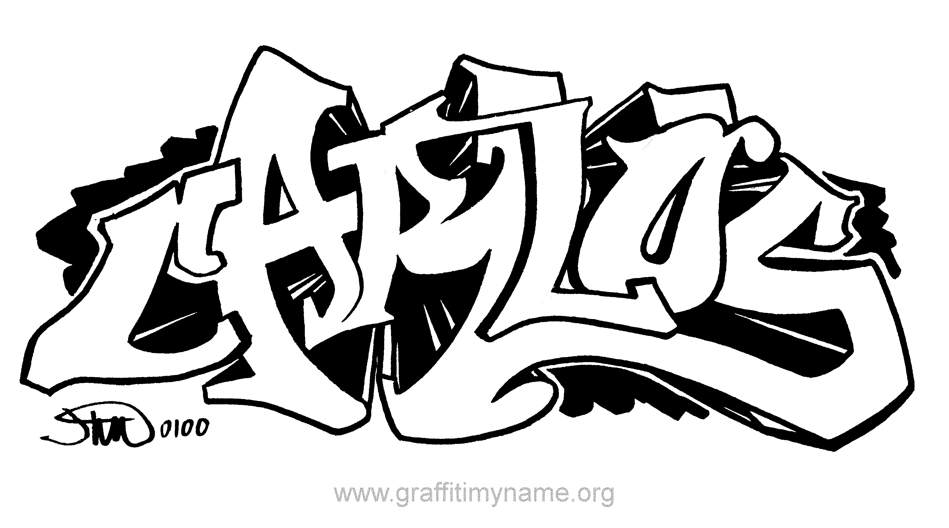 Graffiti Coloring Pages La